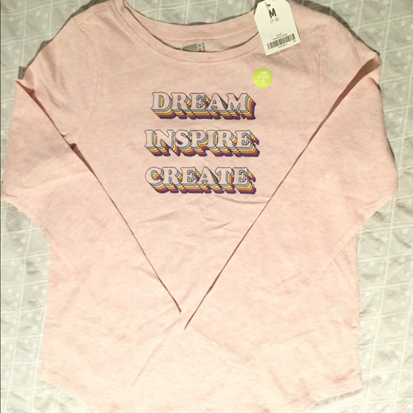 Crazy 8 Other - NWT.  Girls light pink graphic tee.  Size M (7/8)